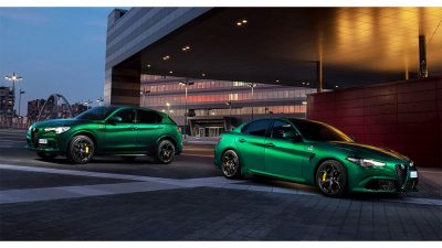 Alfa Romeo Giulia και Stelvio Quadrifoglioμε  V6 Bi-Turbo κινητήρα απόδοσης 510 ίππων